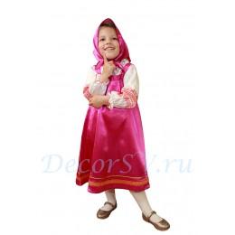 """Детский русский народный костюм """"Машенька"""": сарафан, блузка и косынка."""