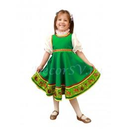Детский пляссовой костюм: сарафан и блузка.