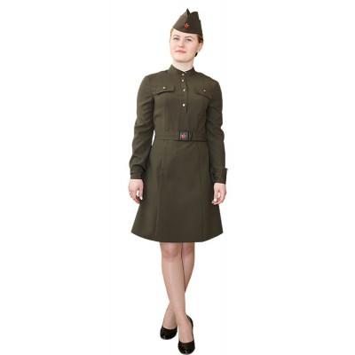 """- """"Комплект военный женский: платье форменное + пилотка + ремень."""" от производителя DecorSV. (Артикул: 1КДВ-50 )"""