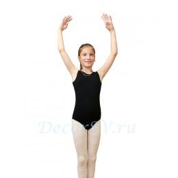 Купальник гимнастический без рукавов из хлопкового полотна