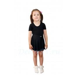 Юбка гимнастическая для девочки из бифлекса, цвет чёрный