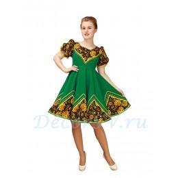 Русское народное платье для танца. Цвет зеленый