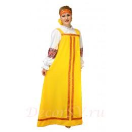 Русский народный сарафан. Цвет сарафана желтый. (Блузка и повязка продаются отдельно).