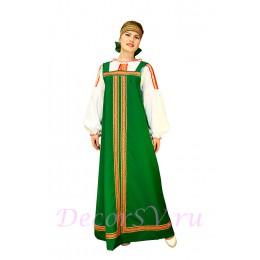 Русский народный сарафан. Цвет сарафана зеленый. (Блузка и повязка продаются отдельно).