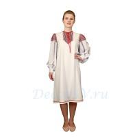 Рубаха для русского костюма из льняной ткани.