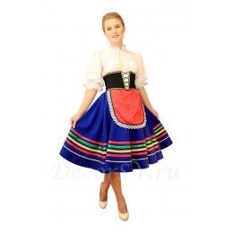 """Итальянский танцевальный костюм """"Тарантелла"""": юбка с фартуком и подъюбником, блузка, корсет, панталоны"""