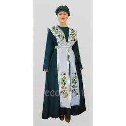 Еврейский национальный костюм платье, фартук, тюрбан.