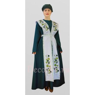 """- """"Еврейский национальный костюм платье, фартук, тюрбан."""" от производителя DecorSV. (Артикул: ТКР-15 )"""