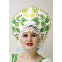Кокошник для русского народного костюма с платком на голову.