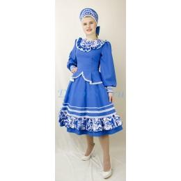 """Русский народный танцевальный костюм в стиле """"Гжель"""""""