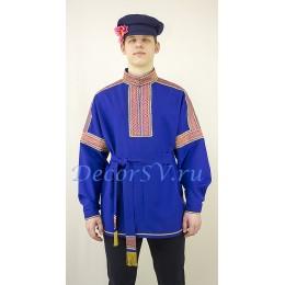 Рубаха русская народная. Цвет синий.