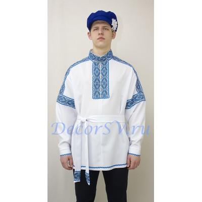 """- """"Рубаха русская народная. Цвет белый."""" от производителя DecorSV. (Артикул: МНР-21-Б )"""