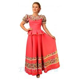 Казачий костюм женский. Костюм состоит: блузка, юбка, шлычка на волосы. Цвет розовый.