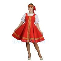 Русский народный сарафан. Цвет сарафана красный