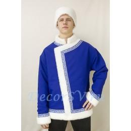 Косоворотка и шапка мужская утепленная. Цвет синий.