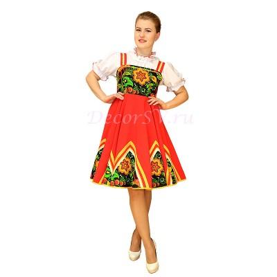 """- """"Русское народное платье для танца. Цвет зеленый"""" от производителя DecorSV. (Артикул: РНП-45 )"""