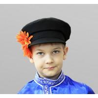 Картуз детский для русского народного костюма черный