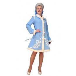 Новогодний костюм Снегурочки (с крылышками) - Шубка и кокошник.