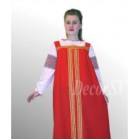 Блуза для русского костюма из белой х/б ткани с рисунком