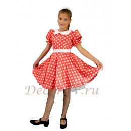 """Платье для девочки танцевальное """"Карамелька"""". Цвет красный."""