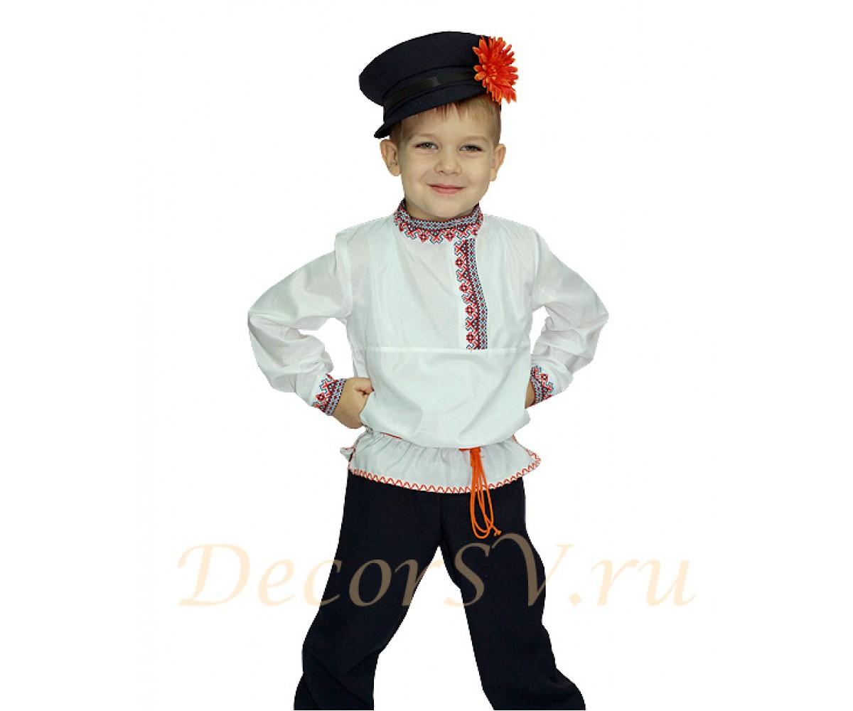 fc3ffe7858c6 Русский народный костюм для мальчика (рубаха, штаны, кепка, шнурок ...