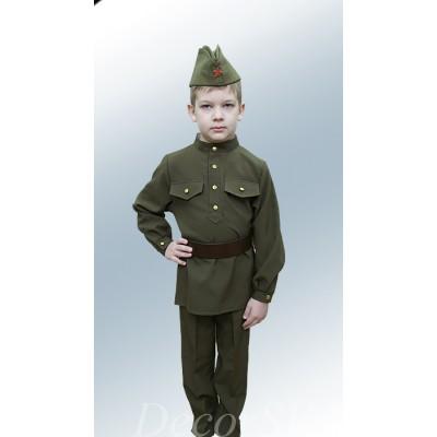 """- """"Комплект: гимнастерка + брюки + пилотка + ремень."""" от производителя DecorSV. (Артикул: КДВ-22 )"""
