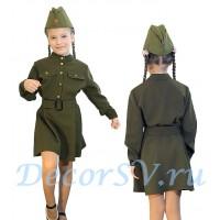 Комплект: платье форменное для девочки + пояс + пилотка.