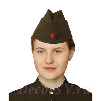"""- """"Упрощенная пилотка из костюмной ткани со звездой"""" от производителя DecorSV. (Артикул: ПВЗ-21 )"""