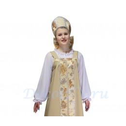 Блуза для русского костюма из шифона. Цвет белый