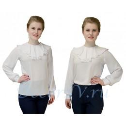 Блузка для хора белая с жабо