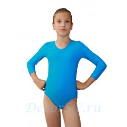 Купальник гимнастический с длинным рукавом