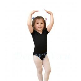Купальник гимнастический с коротким рукавом