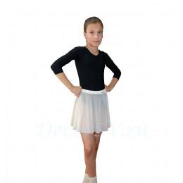 Юбка гимнастическая для девочки из сетки, цвет белый