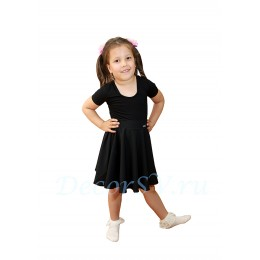Юбка гимнастическая для девочки из шелка, цвет черный