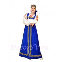 Русский народный сарафан. Цвет сарафана синий. (Блузка и повязка продаются отдельно).