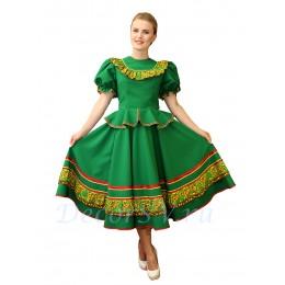 Казачий костюм женский. Костюм состоит: блузка, юбка и шлычка на волосы. Цвет зеленый.