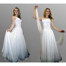 """Костюм для танца """"Вальс"""": платье и шарф."""
