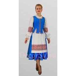Белорусский национальный костюм: блуза, жилетка, юбка, фартук
