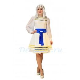 Еврейский танцевальный костюм: платье, подъюбник, фартук, платок с ободком.