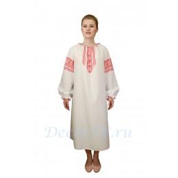 Рубаха длинная для костюма из белой ткани с рисунком.