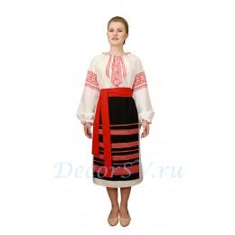 Молдавский национальный костюм: рубаха и фартук.