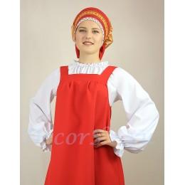 Блуза для русского костюма. Цвет белый.