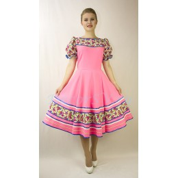Русское народное платье для танца. Цвет розовый.