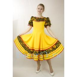 Русское народное платье для танца. Цвет желтый.