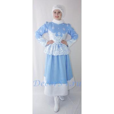 """- """"Новогодний костюм Снегурочки: жакет, юбка и меховая повязка."""" от производителя DecorSV. (Артикул: НКС-42 )"""