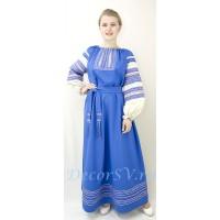 Русское народное платье с поясом.