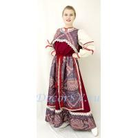 Русский народный костюм. В состав костюма входит сарафан, коротёна и рубаха.