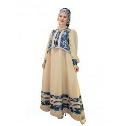 Русский народный костюм: сарафан, блуза и закрытый кокошник