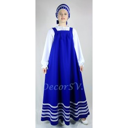 Русский народный сарафан. Цвет синий.