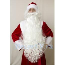 Борода Деда Мороза -90 см.